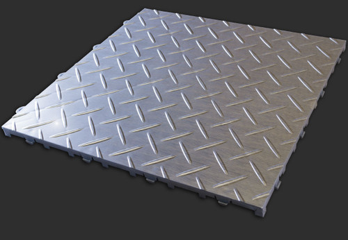 "RaceDeck TuffShield Diamond Metallic 12"" x 12"""