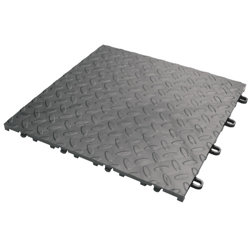 Gladiator Charcoal Floor Tile (48-Pack)