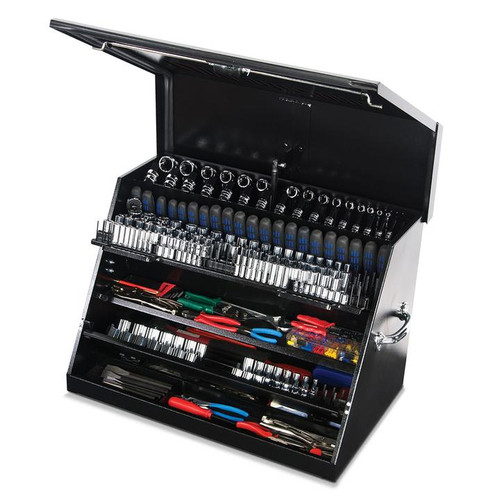 "Montezuma 30"" x 19"" Portable Steel Toolbox - Black"