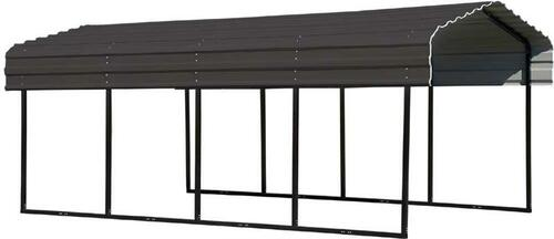Arrow Steel Carport 10 x 20 x 7 ft. Galvanized Charcoal
