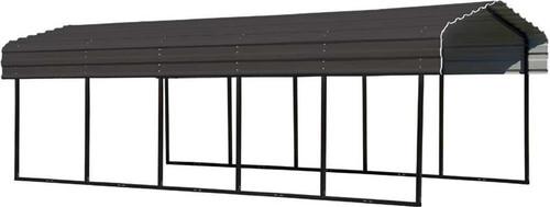 Arrow Steel Carport 10 x 24 x 7 ft. Galvanized Charcoal