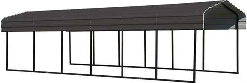Arrow Steel Carport 10 x 29 x 7 ft. Galvanized Charcoal