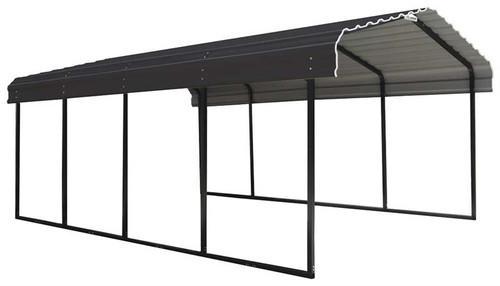 Arrow Steel Carport 12 x 20 x 7 ft. Galvanized Charcoal
