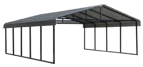Arrow Carport 20 x 24 x 7 ft - Charcoal