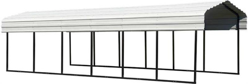 Arrow Steel Carport 10 x 29 x 7 ft. Galvanized Eggshell