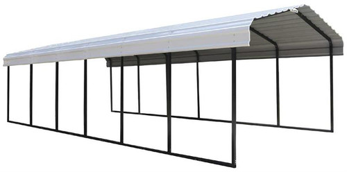 Arrow Steel Carport 12 x 29 x 7 ft. Galvanized Eggshell