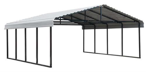 Arrow Carport 20 x 20 x 7 ft - Eggshell
