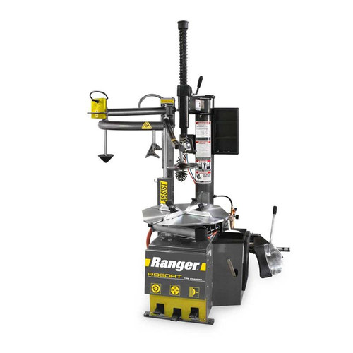 "Ranger R980AT Tire Changer / Swing Arm / Single-Tower Assist / 30"" Capacity - Yellow/Gray"