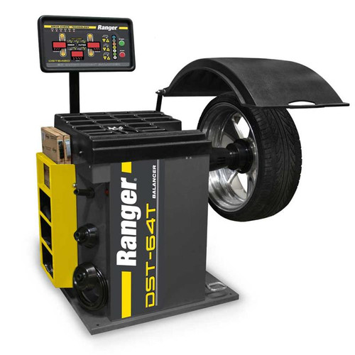Ranger DST-64T Wheel Balancer / 3D Quick-Touch DataWand/ 36 mm Shaft - Yellow/Gray