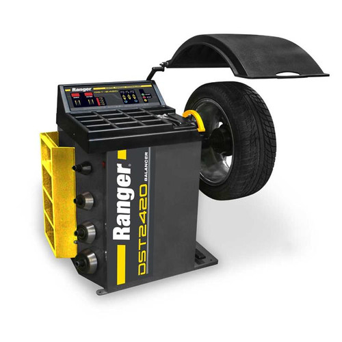 "Ranger DST-2420 Wheel Balancer / 36 mm Shaft / 30"" Maximum Wheel Diameter Capacity - Yellow/Gray"