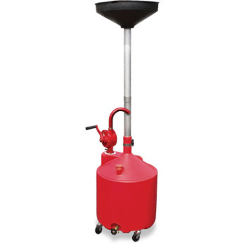 Ranger RD-18G 18-Gallon Portable Oil Drain With Pump and Drain Valve