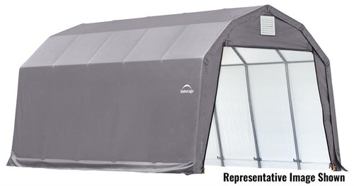 ShelterLogic ShelterCoat 12 x 24 x 9 ft. Garage Barn Gray Cover