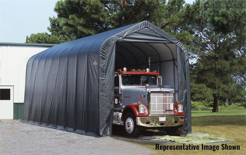 ShelterLogic ShelterCoat 16 x 40 x 16 ft. Garage Peak Gray Cover