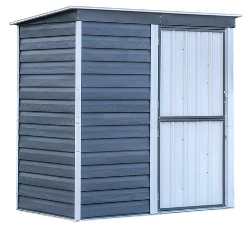 Arrow Shed-in-a-Box Steel Storage Shed 6 x 4 ft. Galvanized Charcoal/Cream