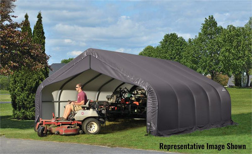 ShelterLogic ShelterCoat 18 x 20 x 9 ft. Garage Peak Gray Cover