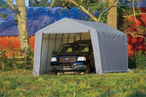 ShelterLogic ShelterCoat 12 x 24 x 8 ft. Garage Peak Gray Cover