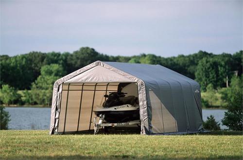 ShelterLogic ShelterCoat 12 x 20 x 8 ft. Garage Peak Gray
