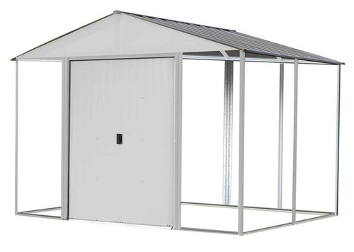 Arrow Ironwood Steel Hybrid Shed Kit 10 x 8 ft. Galvanized Cream