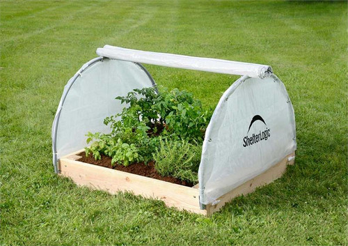 ShelterLogic GrowIT Backyard Raised Bed Round 4 x 4 ft. Greenhouse