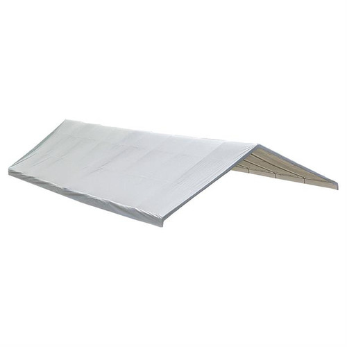 ShelterLogic FR Rated Canopy Replacement Cover for 2-3/8-Inch Frame, 30 x 50-Feet White