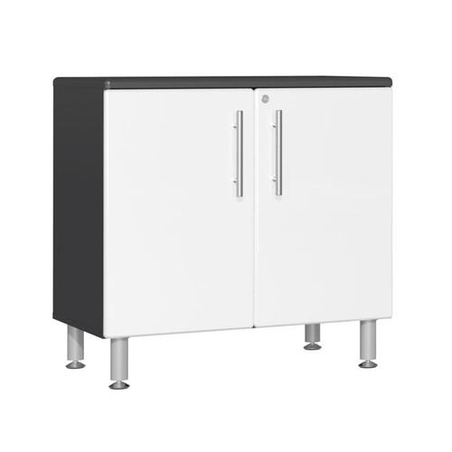 Ulti-MATE Garage 2.0 Series White Metallic Oversized 2-Door Base Cabinet