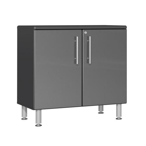 Ulti-MATE Garage 2.0 Series Grey Metallic Oversized 2-Door Base Cabinet