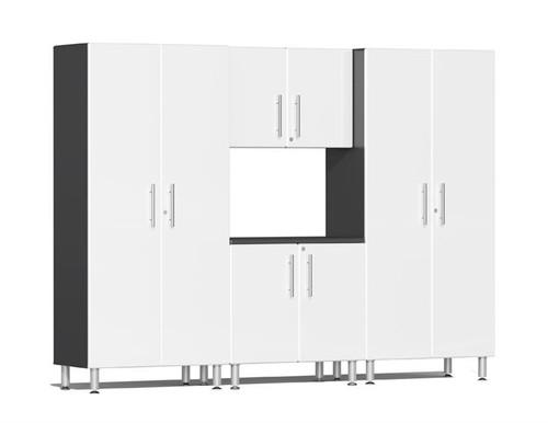 Ulti-MATE Garage 2.0 Series White Metallic 4-Piece Kit
