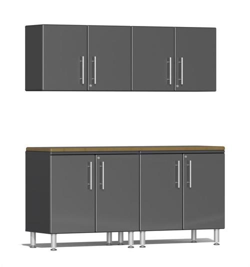 Ulti-MATE Garage 2.0 Series Grey Metallic 5-Piece Workstation Kit