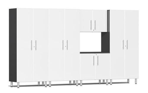 Ulti-MATE Garage 2.0 Series White Metallic 5-Piece Combo Kit