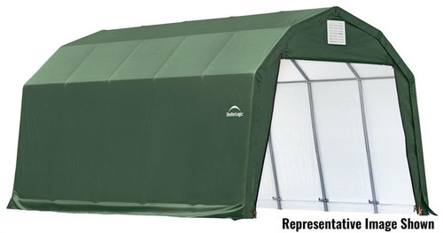 ShelterLogic ShelterCoat 12 x 28 x 11 ft. Garage Barn Green Cover