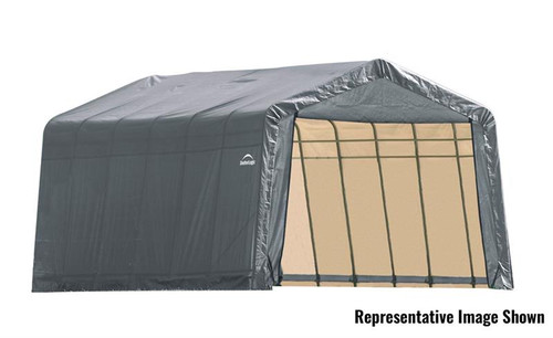 ShelterLogic ShelterCoat 12 x 28 x 8 ft. Garage Peak Gray Cover