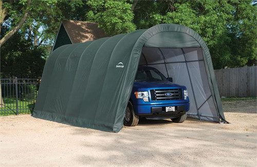 ShelterLogic ShelterCoat 13 x 24 x 10 ft. Wind/Snow Rated Garage Round Green Cover