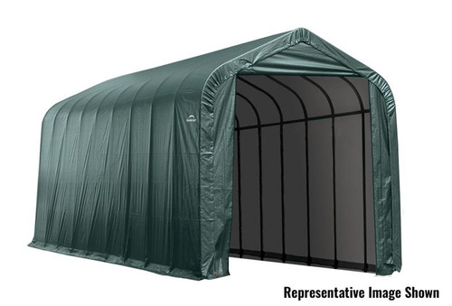 ShelterLogic ShelterCoat 15 x 28 x 12 ft. Garage Peak Green Cover