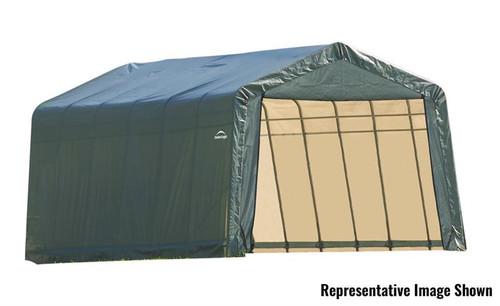 ShelterLogic ShelterCoat 13 x 28 x 10 ft. Garage Peak Green Cover