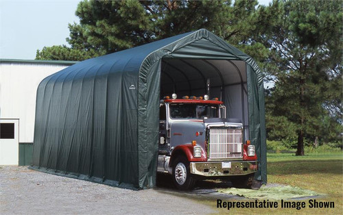 ShelterLogic ShelterCoat 16 x 40 x 16 ft. Garage Peak Green Cover