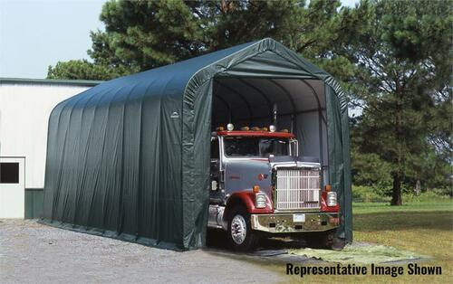 ShelterLogic ShelterCoat 16 x 44 x 16 ft. Garage Peak Green Cover