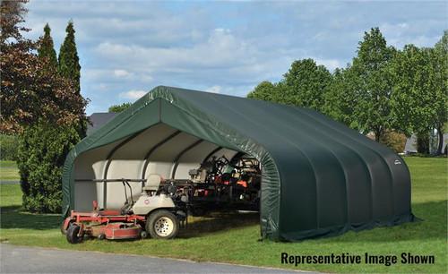 ShelterLogic ShelterCoat 18 x 24 x 9 ft. Garage Peak Green Cover