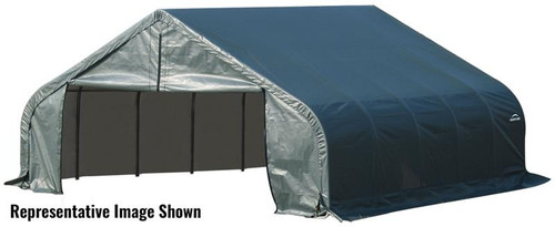 ShelterLogic ShelterCoat 22 x 20 x 13 ft. Garage Peak Green Cover