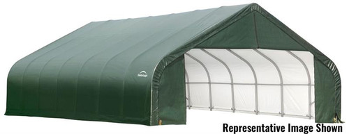 ShelterLogic ShelterCoat 28 x 28 x 20 ft. Garage Peak Green Cover