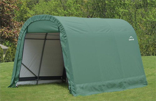 ShelterLogic ShelterCoat 8 x 12 x 8 ft. Wind/Snow Rated Garage Round Green Cover
