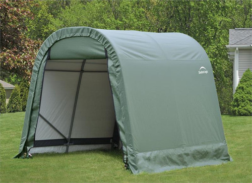 ShelterLogic ShelterCoat 8 x 8 x 8 ft. Wind/Snow Rated Garage Round Green Cover