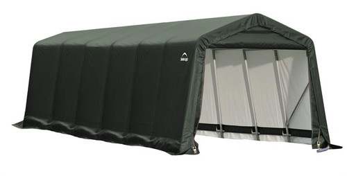 ShelterLogic ShelterCoat 9 x 24 x 10 ft. Peak Style Shelter Green Cover