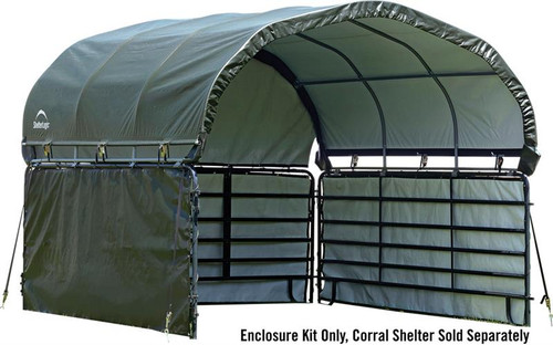ShelterLogic Enclosure Kit for Corral Shelter 10 x 10 ft. Green (Corral Shelter & Panels NOT Included)