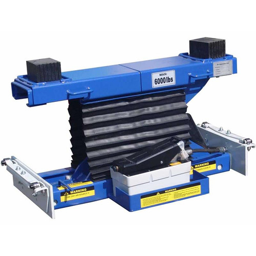 Tuxedo RAJ-6K-L Rolling Air Jack 6,000 lb. Capacity - On The Rail - Air / Hyd - Low Mount