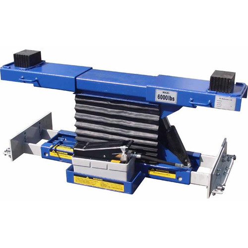 Tuxedo RAJ-6K-H Rolling Air Jack 6,000 lb. Capacity - On The Rail - Air / Hyd - High Mount