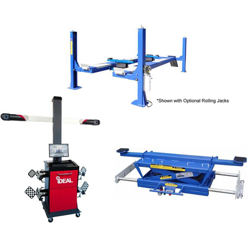 Tuxedo FP14KO-A 14,000 lb Alignment Lift, 3D Image Wheel Aligner, Rolling Air Jack Combo Package
