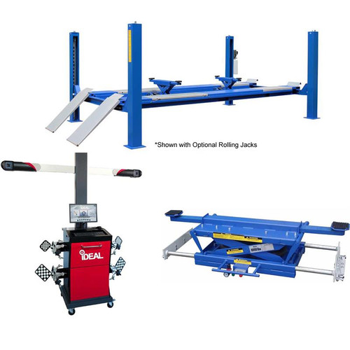 Tuxedo FP14KA-C 14,000 lb Closed Front Alignment Lift, 3D Image Wheel Aligner, Rolling Air Jack Combo Package