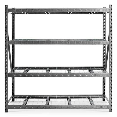 "Gladiator 90"" x 90"" Heavy Duty Mega Rack with Four Adjustable Shelves"
