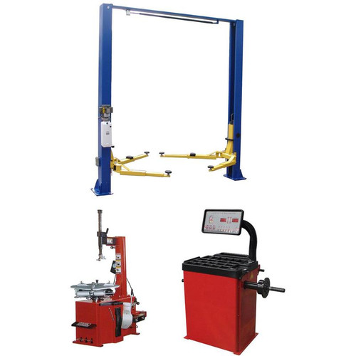 Tuxedo TP9KACX 9,000 lb 2 Post Lift, TC-530 Tire Changer, WB-953-B Wheel Balancer Combo Package