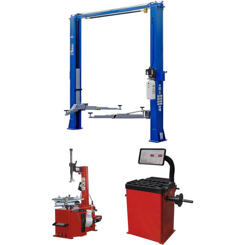 iDEAL TP10KAC-DX 10,000 lb. ALI Certified 2-Post, TC-530 Tire Changer, WB-953-B Wheel Balancer Combo Package